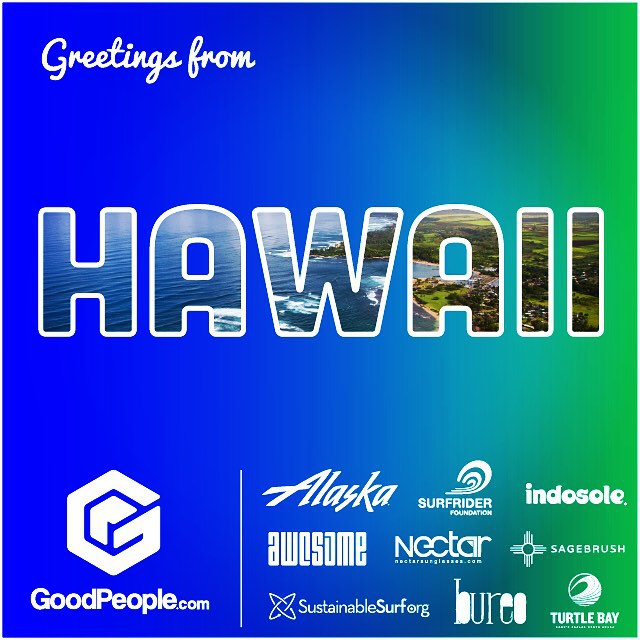 If you want this to be your next postcard... then you better sign up by tomorrow for your free chance to go Aloha! --- We're so stoked to have teamed up with our pals over at @goodpeoplecom @AlaskaAir, @TurtleBayResort, and multiple GoodPeople...
