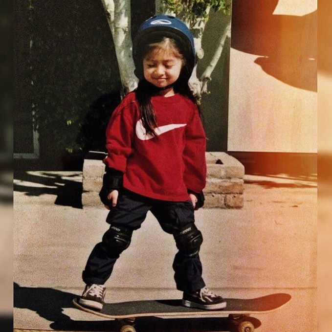 #TBT way back to #TeamB4BC rider @allyshabergado shredding as a mini!  Who else has awesome throwback photos from when they were a grom?  Tag @b4bc and #behealthygetactive to share with us!