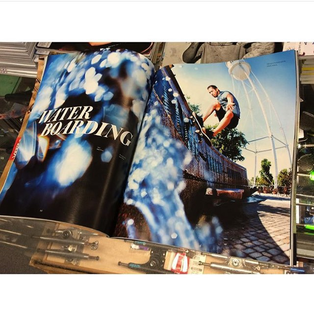 Congrats @josh_hawkins on your @theskateboardmag article ☔️