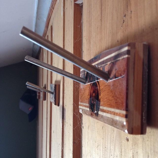 Universal skateboard wall hanger. 20 bones to hang your piece. Hang em high!  #skateboardwallmount #skateboardwallhanger  How many Boyle's boards will be hung. @heetah @carson_brown12  @wildman22 @akadune @drvnstudio @christiandriggs #gobigdogood...