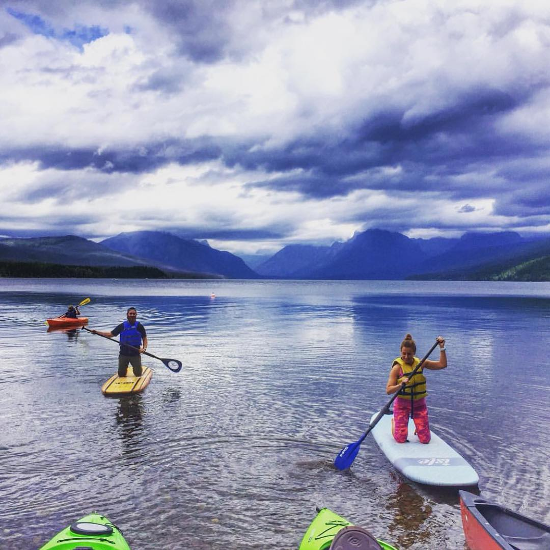 The weekend awaits! How will you make the most of it? @plant.proud.wanderer and @trail_beard are make a splash in Glacier National Park! #radparks #parksproject
