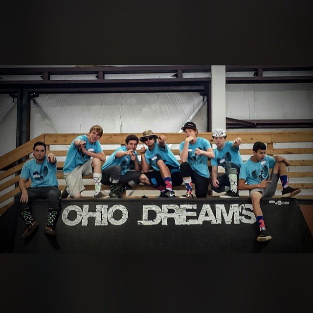The boys at @ohiodreams were able to #grabapair #regram @the_nesh #skateboard #bmx #ski #snowboard #scooter #xgames #camplife #actionsports #wearebright