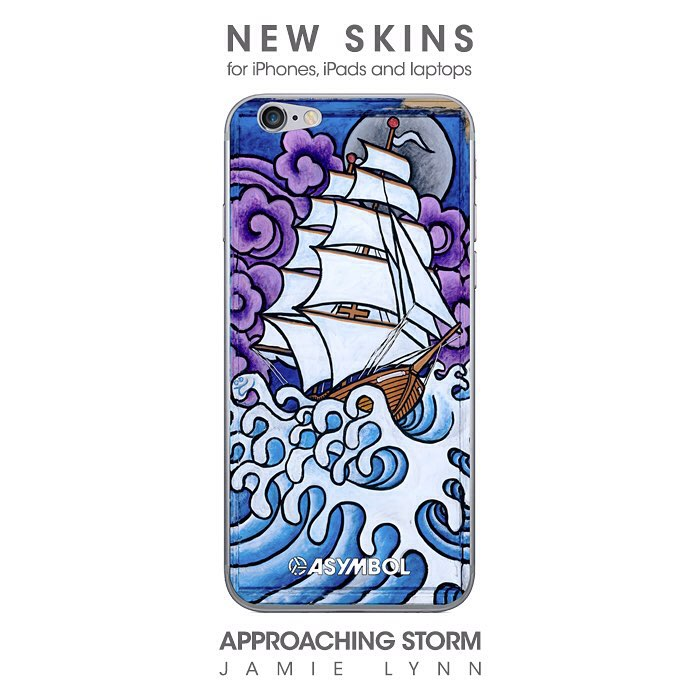 Show some skin folks. It is summer, after all. ||| New skins for all of your neenering devices. Link in profile. #asymbolart #skins #ipodskin #laptopskin #jamielynn #approachingstorm