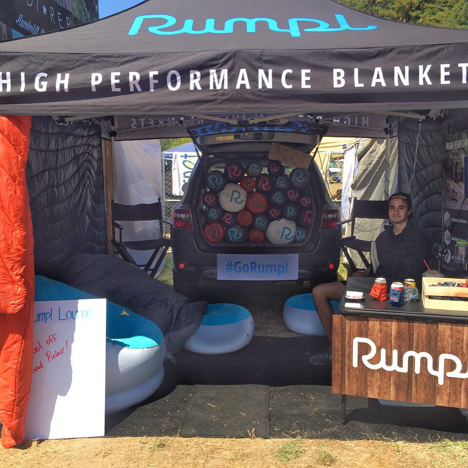 For those of you attending @nnmfestival make sure you stop by the Rumpl lounge to cool off from the heat! We'll be selling rumpls up to 30% off for when it cools down at night so make sure to get one before they are all gone! #gorumpl #nnmf #festival