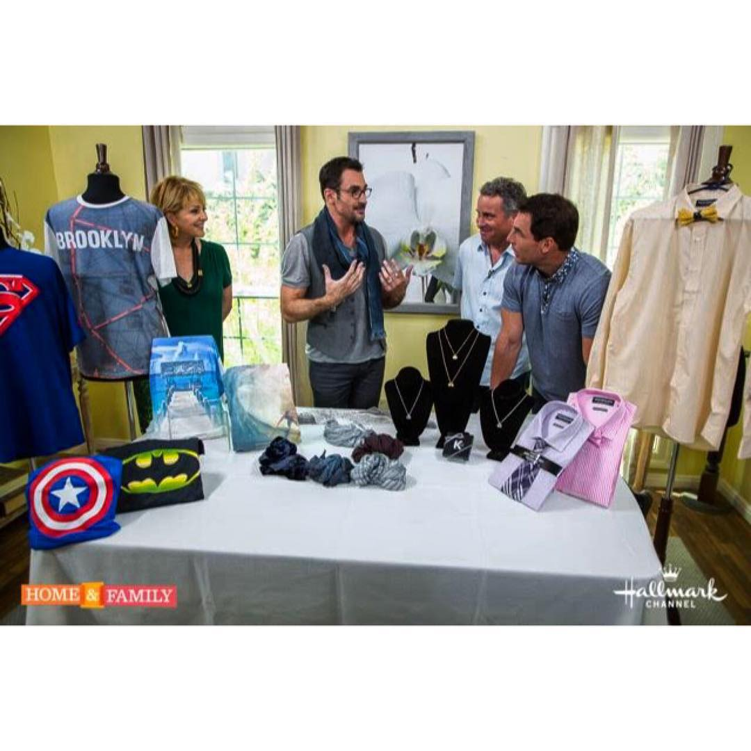 Our Brooklyn Tee was featured as a 'Fashion Must Have' on @homeandfamilytv today! @hallmarkchannel @lawrencezarian