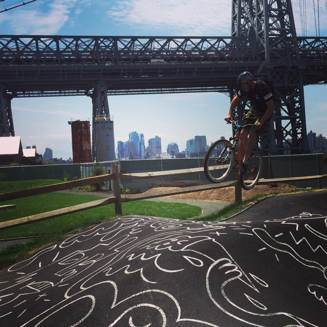 Feel the rhythm, feel the rhyme, jump on your bike it's pump track time!! #tgif #pumptrack #freeride #nyc