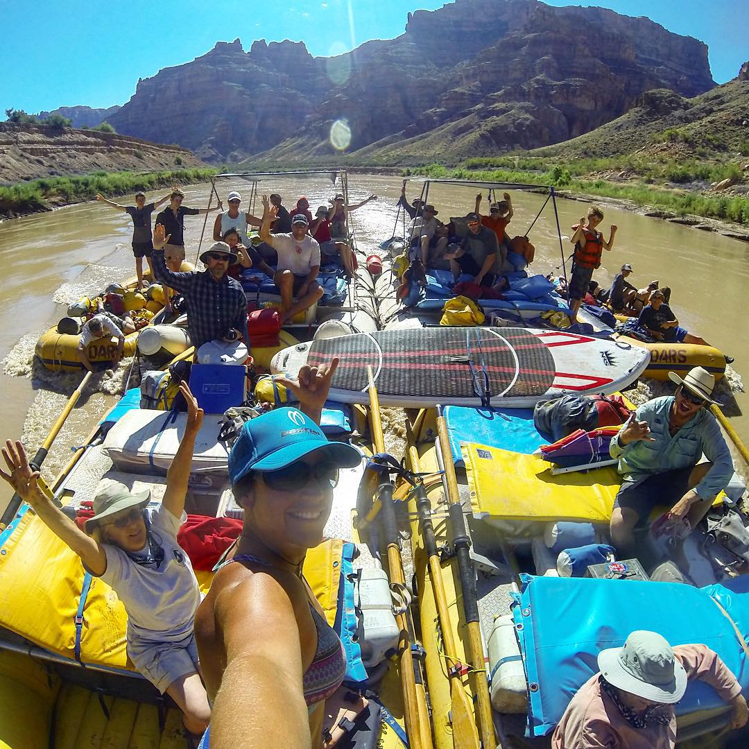 Float and Bloat in style! @oars_rafting #cataractcanyon #rivertrip