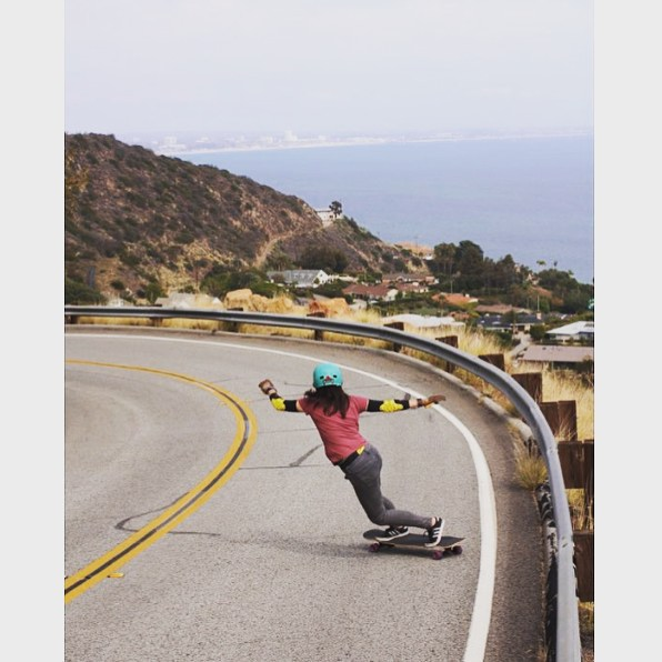 @cindyzskates shredding somewhere in California.