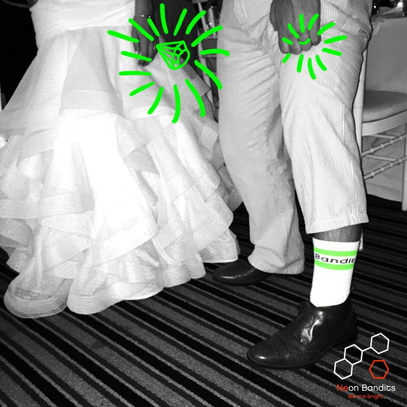 It is always best to #grabapair before you get #hitched #wedding #sockgame #suitandtie #bling #nicering #wearebright