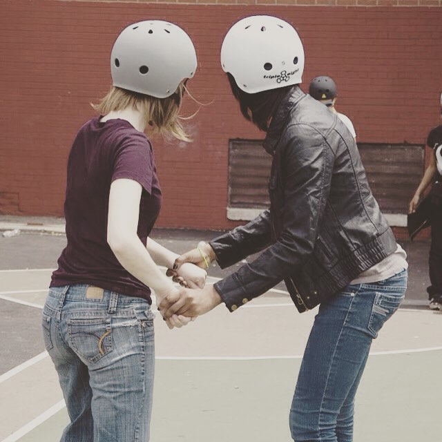 Sometimes a helping hand is all you need. #community #support #teamwork #friendship #trust #mentor #volunteer #youth #skate #skater #skatergirl #skateboarding #sk8 #lifeskills #teach #learn #motivation #focus #success #trynewthings #challengeyourself...