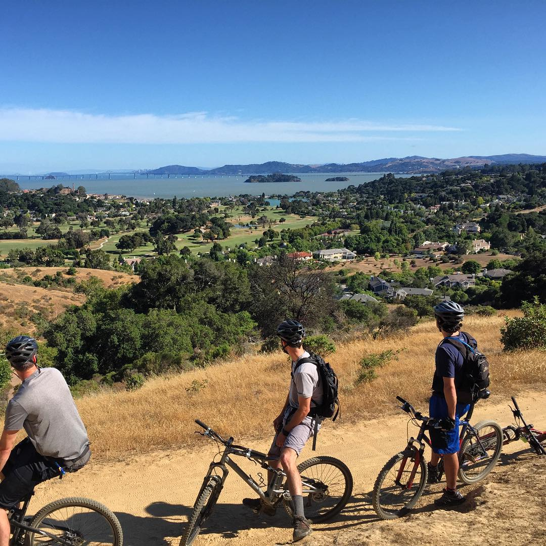 Back in the saddle overlooking what seems to be some sort of Utopia #mountainbiking #mtb #sanfrancisco #chinacamp