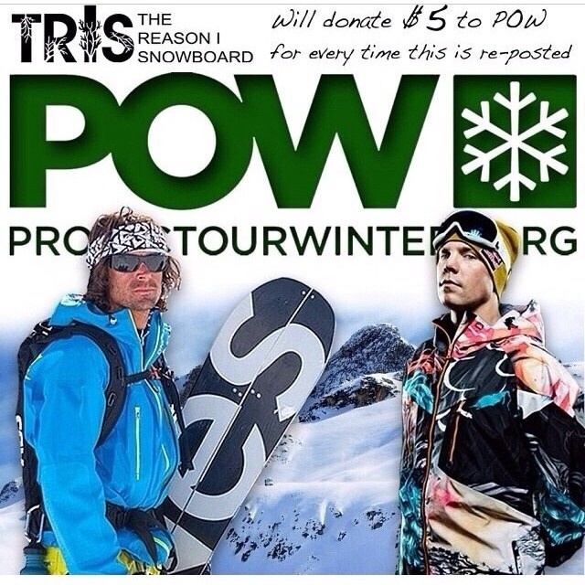 Repost this image and tag it #trisforpow and the good folks at @threasonisnowboard will donate to @protectourwinters