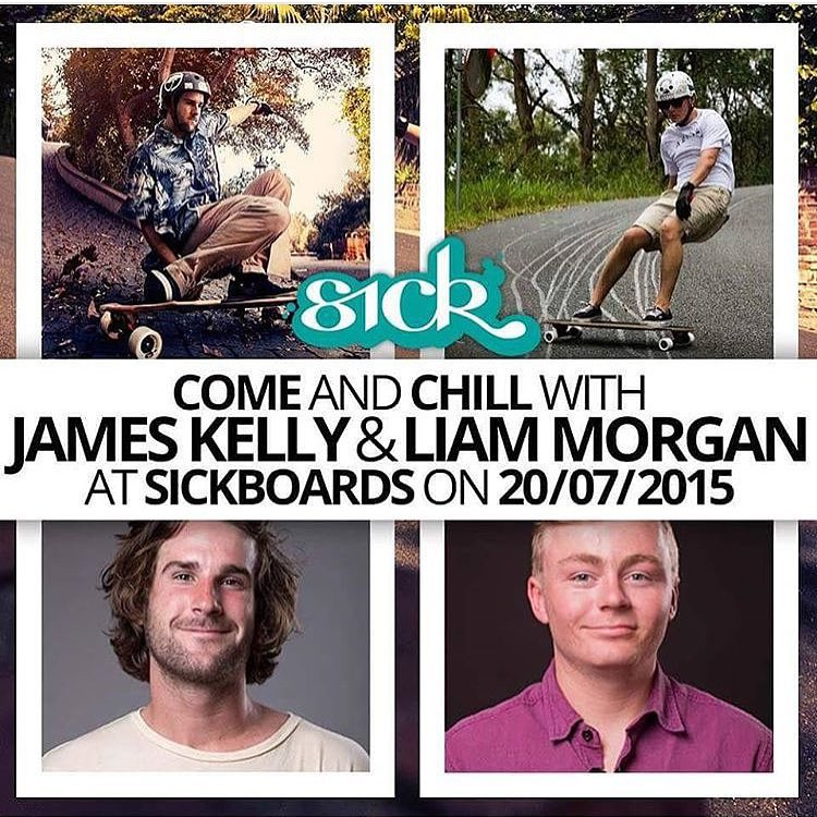 @jameskelly_shm and @liam_lbdr_ will be at @sickboardslongboards for a signing. If you are in the Netherlands make sure to stop in and say what's up!  @arborskateboards @skatebloodorange