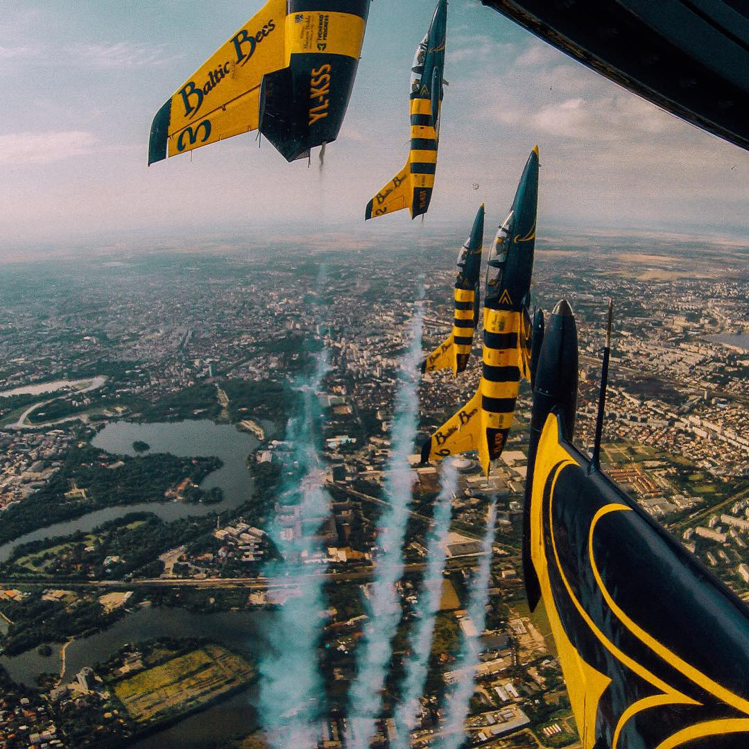 Photo of the Day!  Teodor Munteanu gets vertical with the Baltic Bees of the Romanian Air Club! #GoPro #Flight