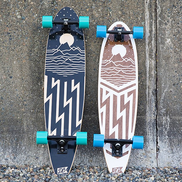 "The Cascade pintails are available in a 42"" and a 38"" version. Snag one today at DBlongboards.com  #longboard #longboarding #longboarder #dblongboards #goskate #shred #rad #stoked #skateboard #skateeveryday"