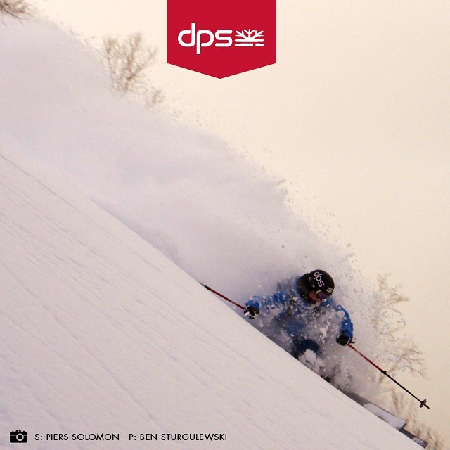 DPS Koala, @pierssolomon surfing Japow on Spoons while filming for #DPSCinematic. Shop DPS' #Dreamtime event July 15-August 1—for discounts and Special Edition skis on the entire 2015/16 quiver. Visit the link in our profile for more info. #skiing...