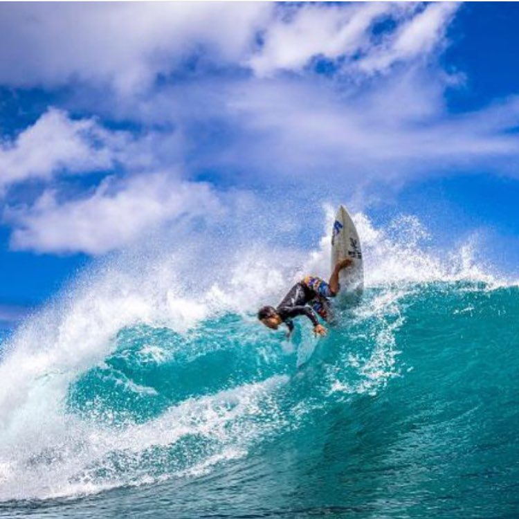 Loving this sick shot of Team Rider @coleyamakawa that was featured on @surfline! | Repost from @1975tokyo #inspiredboardshorts #surf