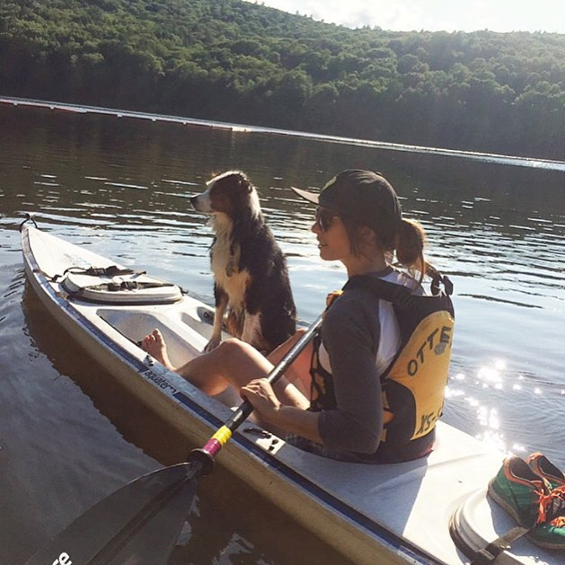 Paddle into the week like @ncardoza503 and Maddie the dog. Don't forget your hat!