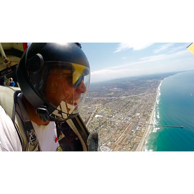 Let your SOLOs take you to new heights!  Skydiving in Oceanside, CA.  #SOLOeyewear