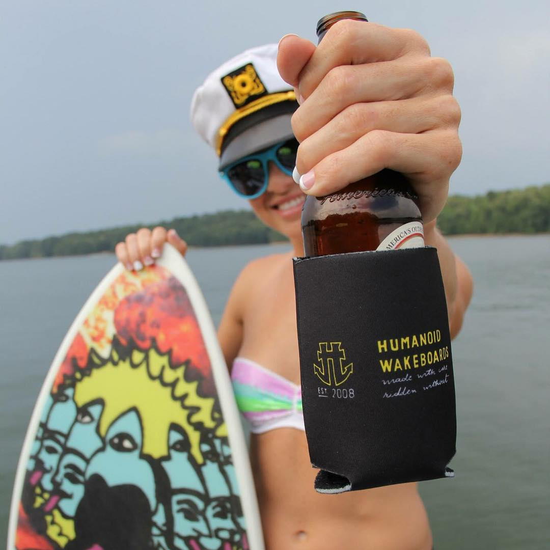 Grab yourself a cold one and one of our hand shaped, made in the USA wakesurfers #wakesurf #notwakeboarding #bluemonday