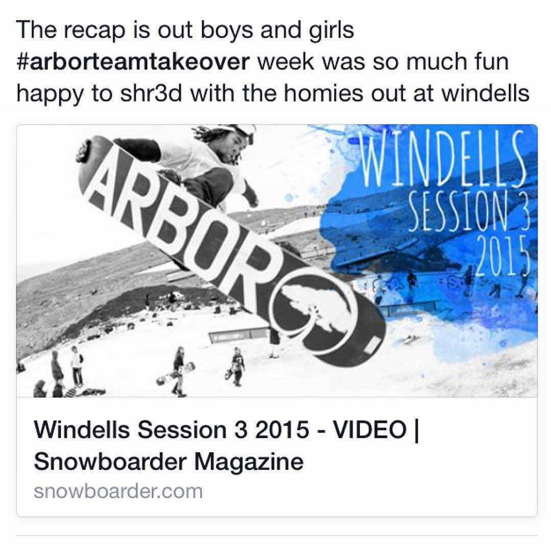 This just in - The recap of @arborsnowboards team shredding @windellscamp Session 3 featuring numerous #FluxBindings team riders is up on @snowboardermag (direct link in our profile)