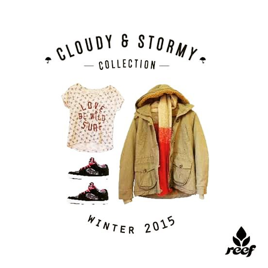 ❄ CLOUDY & STORMY COLLECTION ❄ Colección de invierno 2015 #ReefGirls - Remera Be Wild, Campera Sundance, Zapatillas W Wall - Pasá por nuestros #ReefStores: #Unicenter #ReefMDP #AbastoShopping #AltoAvellaneda #PlazaOeste