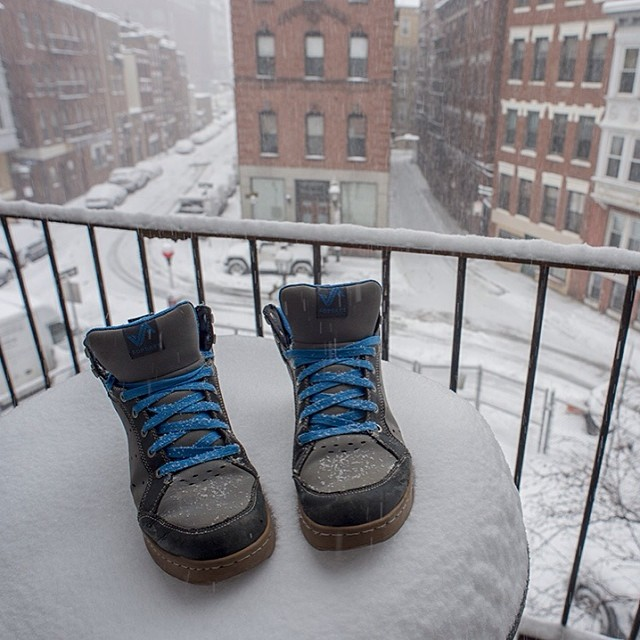 Today is made for #forsake shoes -- #snowday #getoutthere