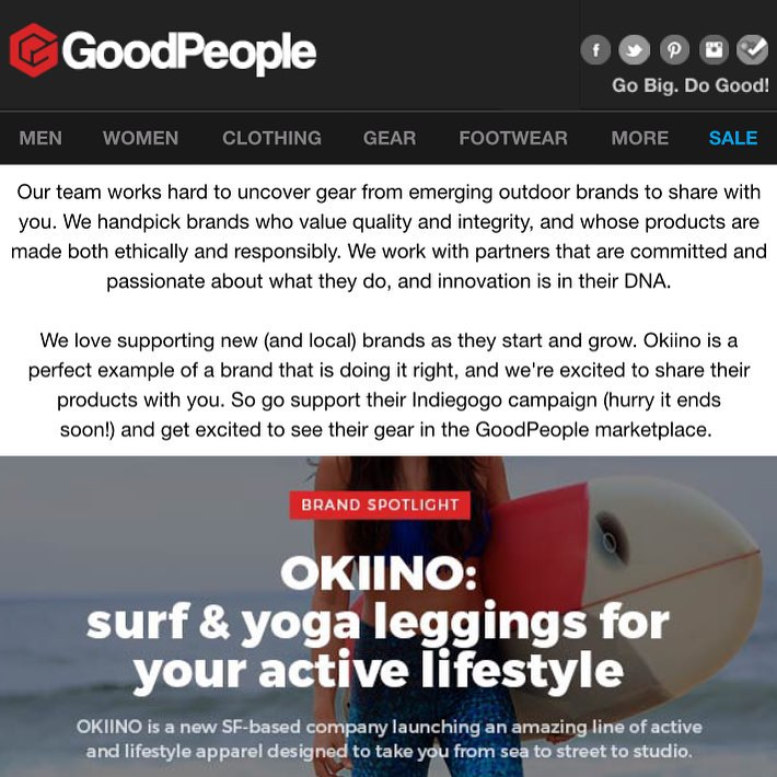 @goodpeoplecom thanks for the LoVE!  We're honored to be featured!  Check out GoodPeople: a social marketplace for brands and people from the outdoor and action sports communities that Go Big and Do Good! #GoodPeople #dogood #socialimpact #OKIINO