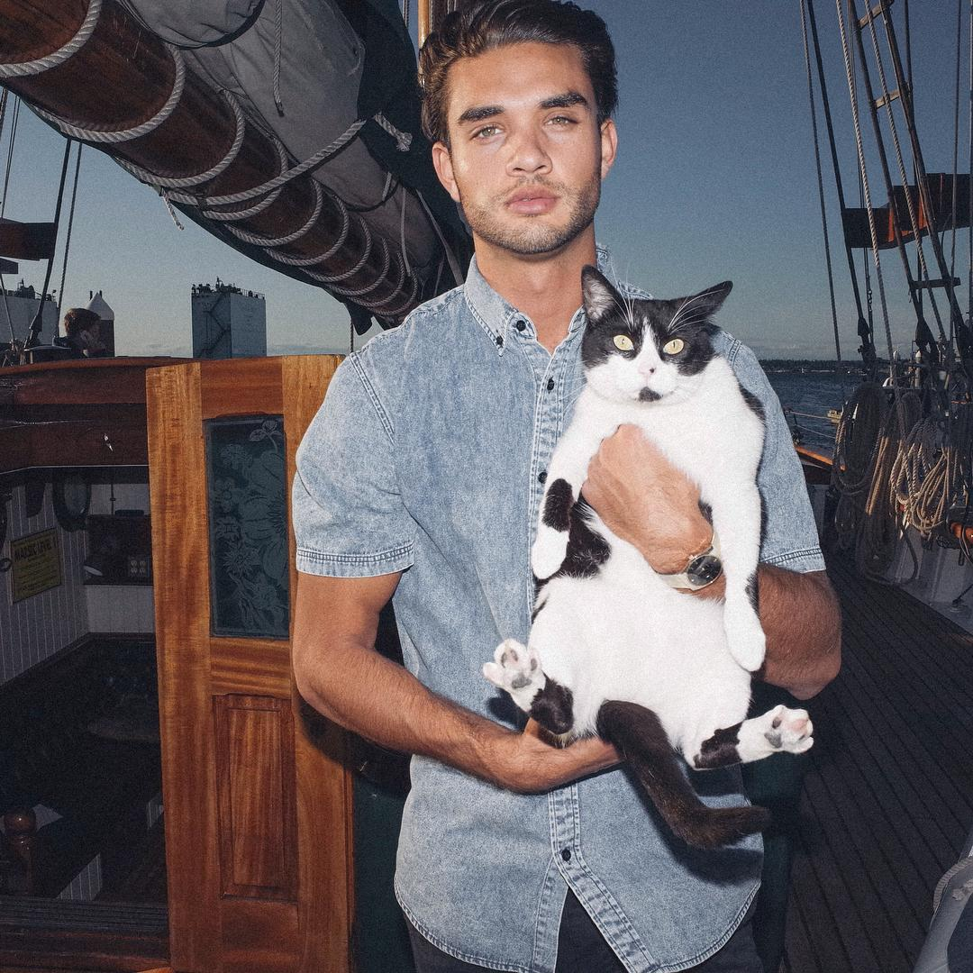 Check out our Ocean Washed Button Up // Sneak peak of Spring/Summer 2016 // Cat not included