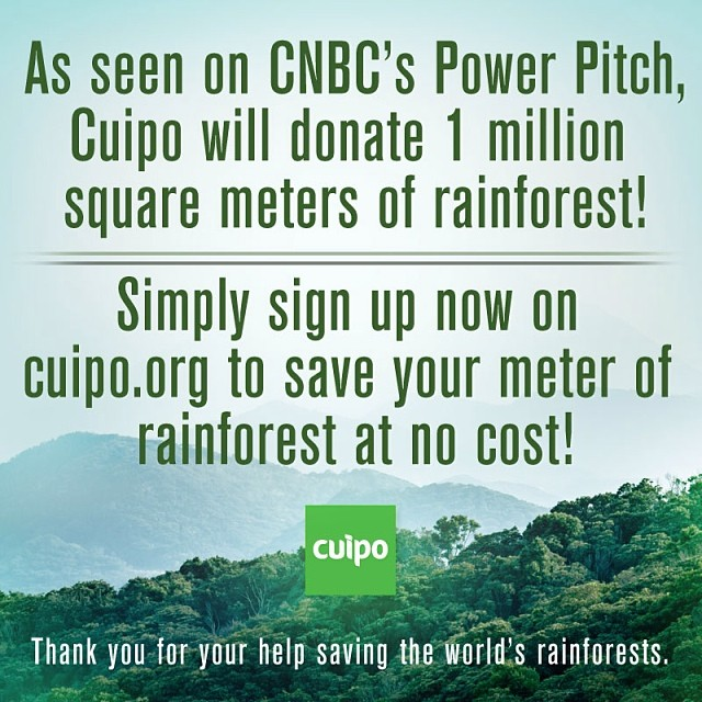 Please repost. Every email = a square meter of rainforest. #saverainforest #cuipo #powerpitch