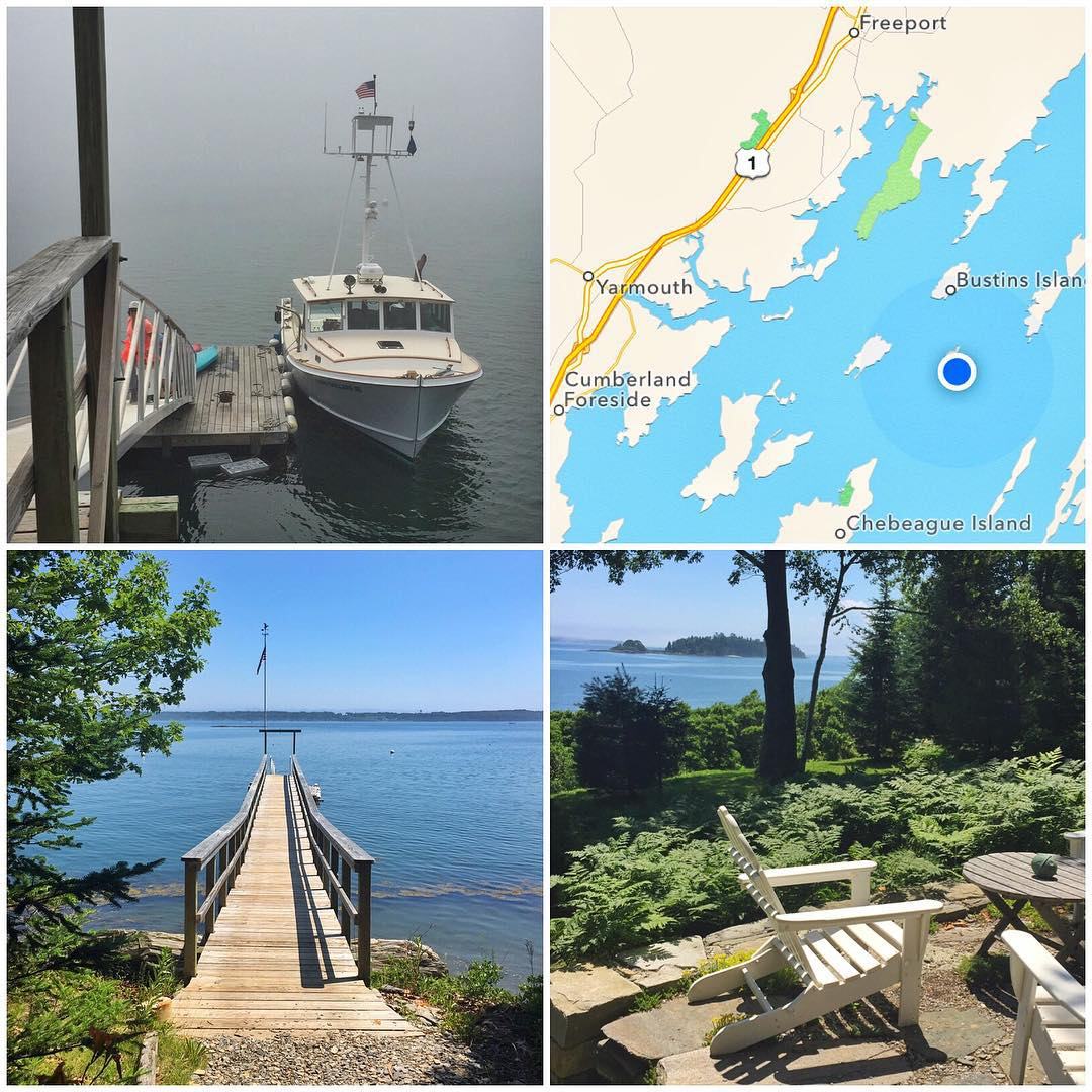 This week's in-between-races adventure: staying in a cabin on a small private island on the coast of Maine with my family. No roads here, we had to be delivered to the island/house by boat. There's no power. There are no real toilets. And there are no...