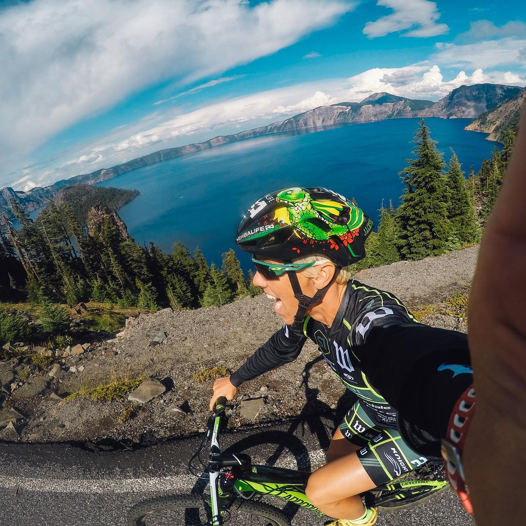 Professional Triathlete @hjacksonracing takes us and her #HERO4Session on an endurance loop around Crater Lake, OR. With the ability to continuously capture for 2hrs at 1080p/30fps, tell us using hashtags #what and #where you would Session for a chance...