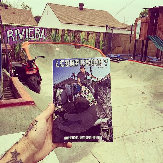 @gnarlivin and his backyard scored the cover of @confusionmagazine so make sure to find yourself a copy and get inspired to build something and shred it!!! #skateriviera #gnaratz #gnarpark