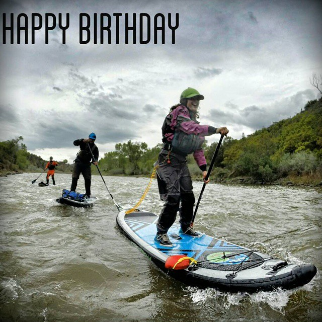 #happybirthday to team rider @ashleyebean !! Board: #HalaAtcha #teamhalagear #WhitewaterSUP #whitewaterwomen #sup