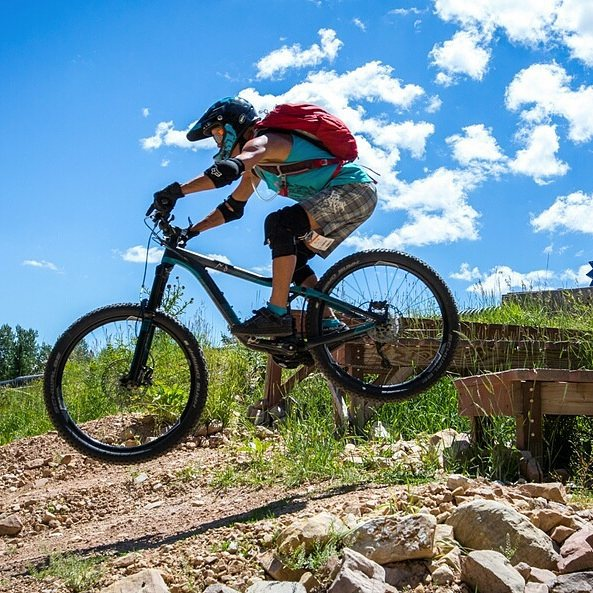Meet @janieinamerica, 55. Look at this GRANDMA sending it. She took a jump at a women's clinic put on by our friends at @mtsportsintl and @endurocupmtb on Sunday. Don't let age be an excuse. Bravo Jane!
