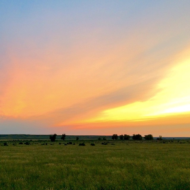 Can you imagine waking up to this every day? Our lucky ‪#ASCLandmark crew members do.  Morning magic captured by Thomas Offer-Westort. #riseandshine #firesky #adventurescience #americanprairie