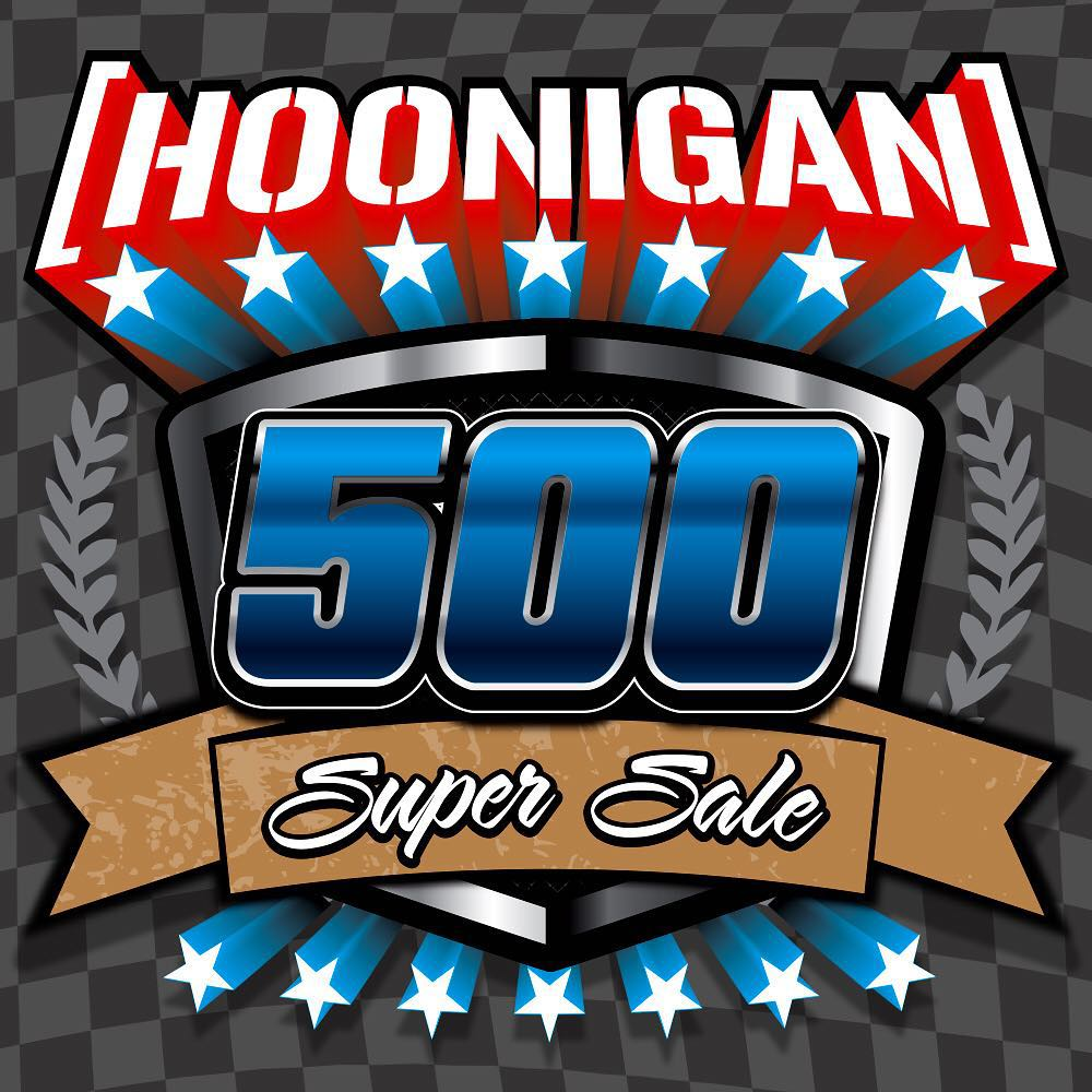 Starts at NOON today and ends at 5PM (PST). To celebrate 500,000 followers on Instagram, we are offering 50% off over 75% of the product we have on #hoonigandotcom. The sale only lasts for 5 hours! Also, spend $50 and get a free koozie. #braceyourself...