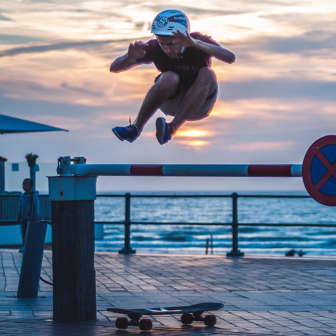 @andreicvisual has got hops, jumping around like a hippie at sunset.