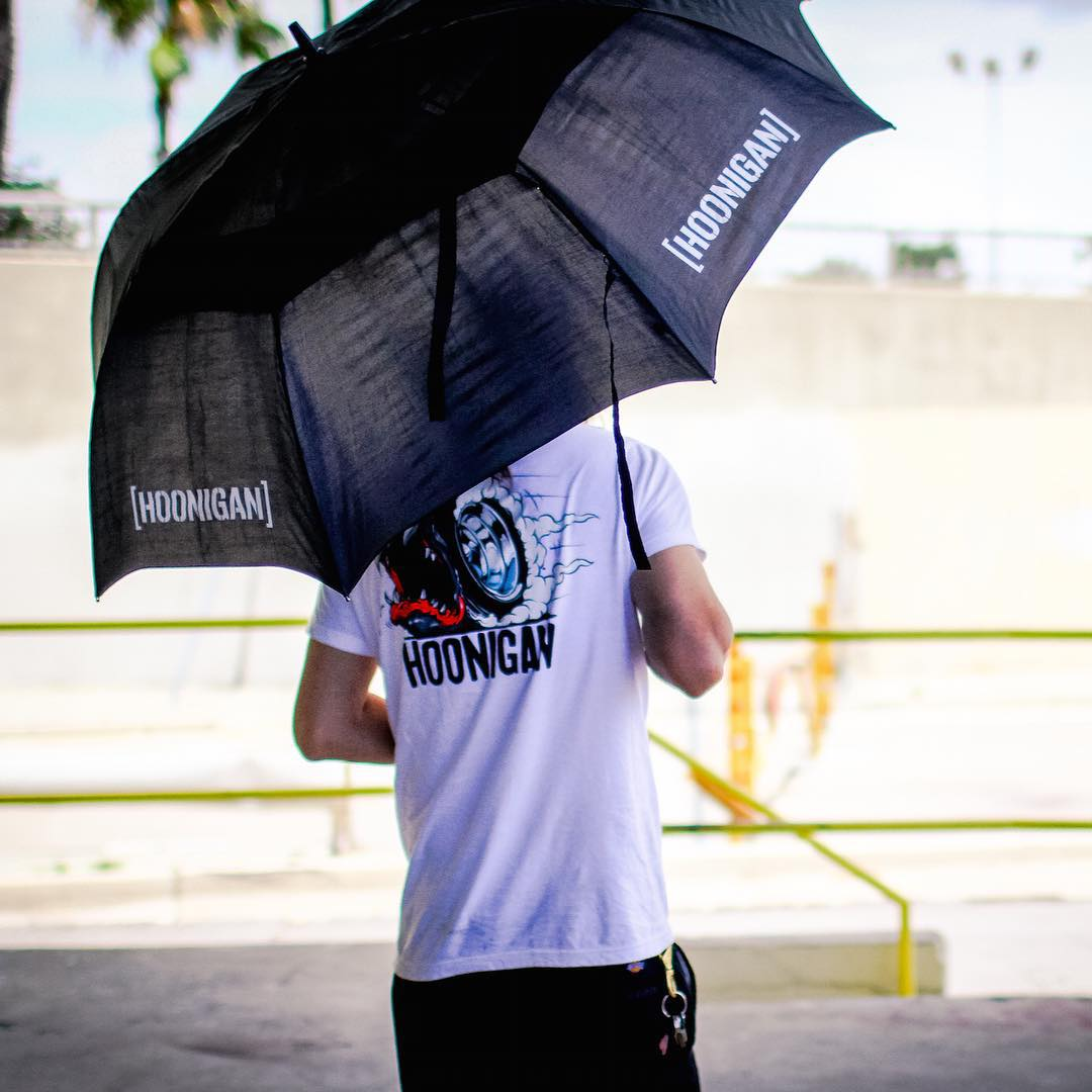 #HNGN500 See this umbrella? We made them for athletes only - it gets hot standing in the sun at race tracks. So while you can't buy it, one customer in the next hour will win it. Thanks again for supporting Hoonigan and be sure to head over to...