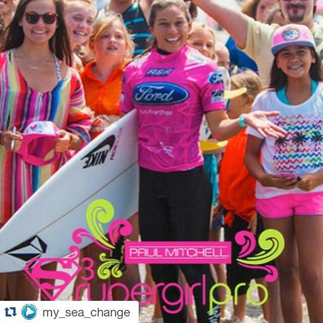 We're two days away from the @supergirlpro in Oceanside, CA!! And #luvsurf is #STOKED to be part of the raddest all girl surf comp! #Repost from @my_sea_change ・・・ Can't wait to see these #girlswhorip @supergirlpro.  #surf #surfcomp #paulmitchell...