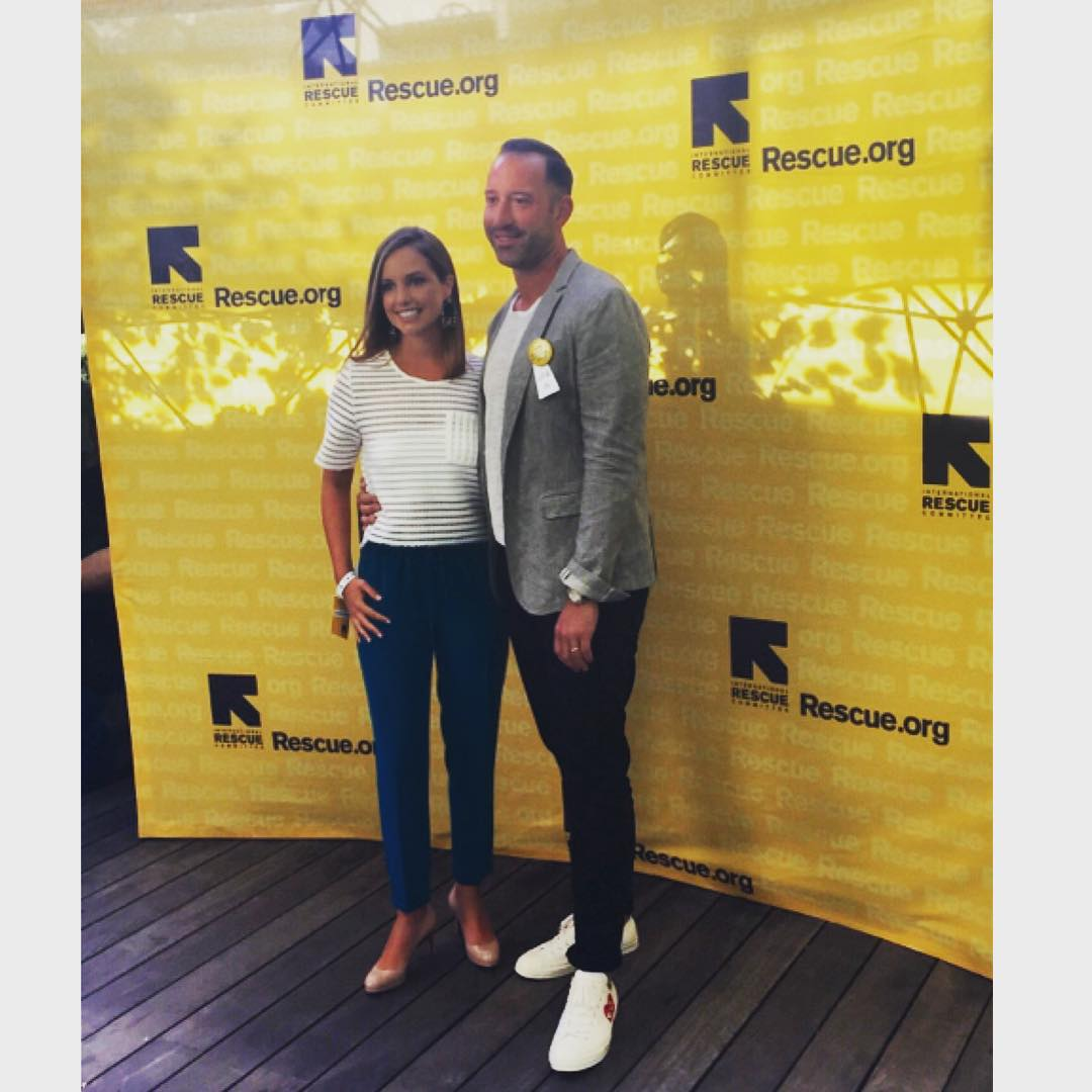 Founders of Threads 4 Thought, Eric & Leigh Fleet at @theirc #GenR Summer Party!