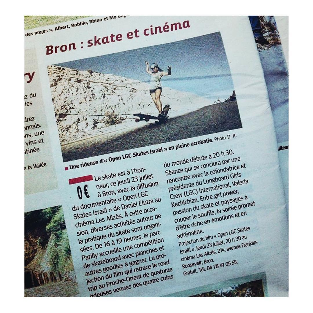 The French OPEN premiere tonight made it to one of the biggest French newspapers #LeProgress.  A longboard movie in mainstream media? We say YES!  Big ups for @misswonderbang for making it happen and to @cdk_longskates & @secoa_skateboards for...