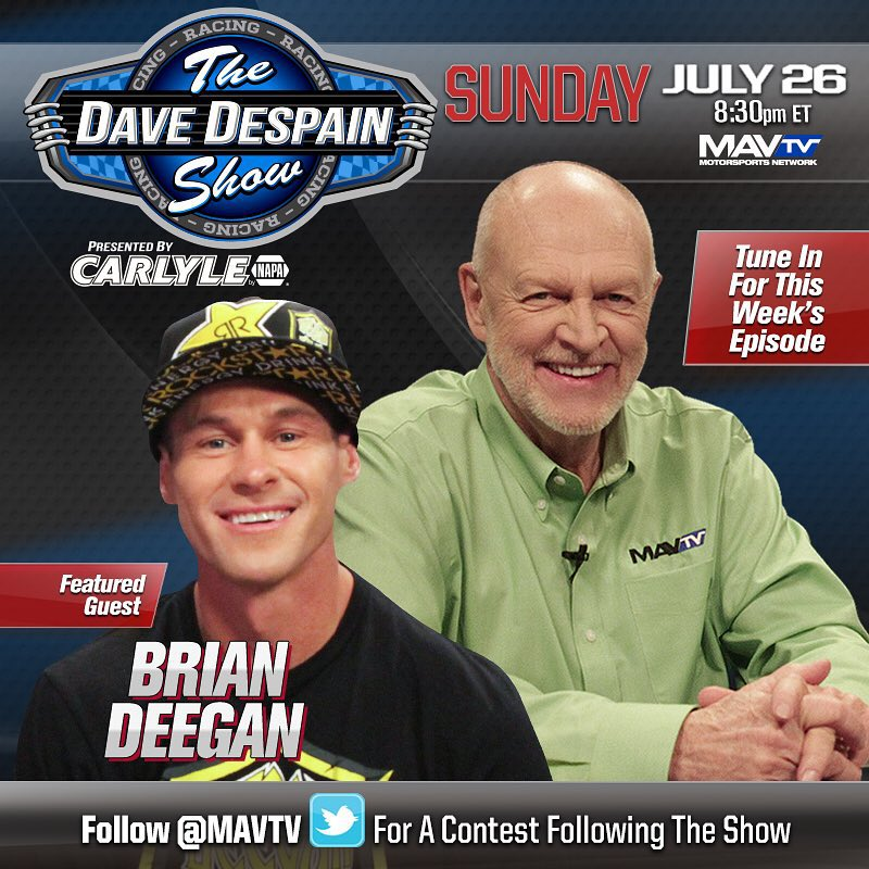 Tune into MavTV channel 214 on direct tv where I will be a guest in the Dave Despain show Sunday at  8 30pm ET  @rockstarenergy #davedespain @lucasoiloffroad #mavtv #checkitout