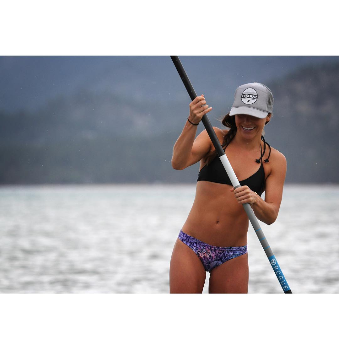 #tbt to when @kristirandel was a pro SUP racer for the day. #roguesup #racethelake2105