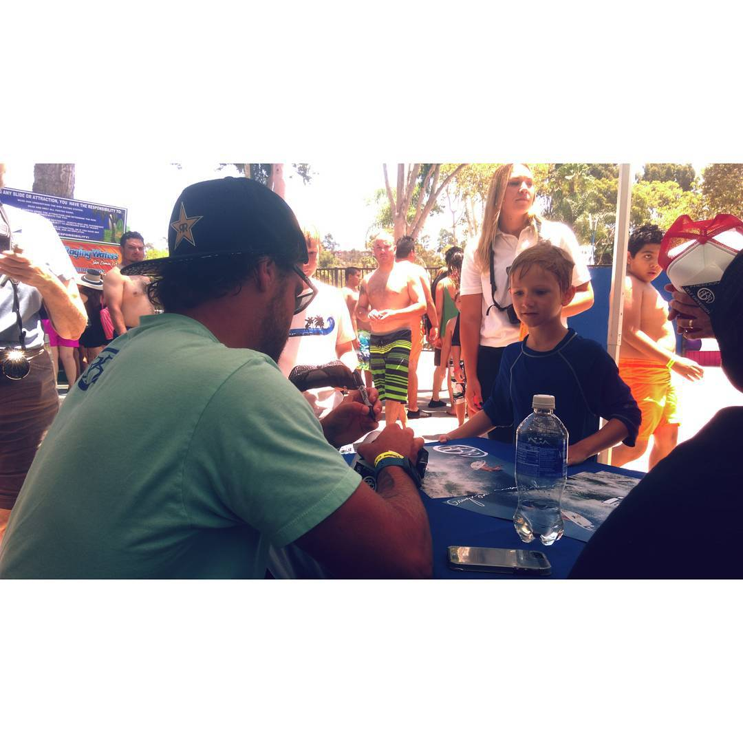 Granger Larson signing now at Raging Waters San Dimas!