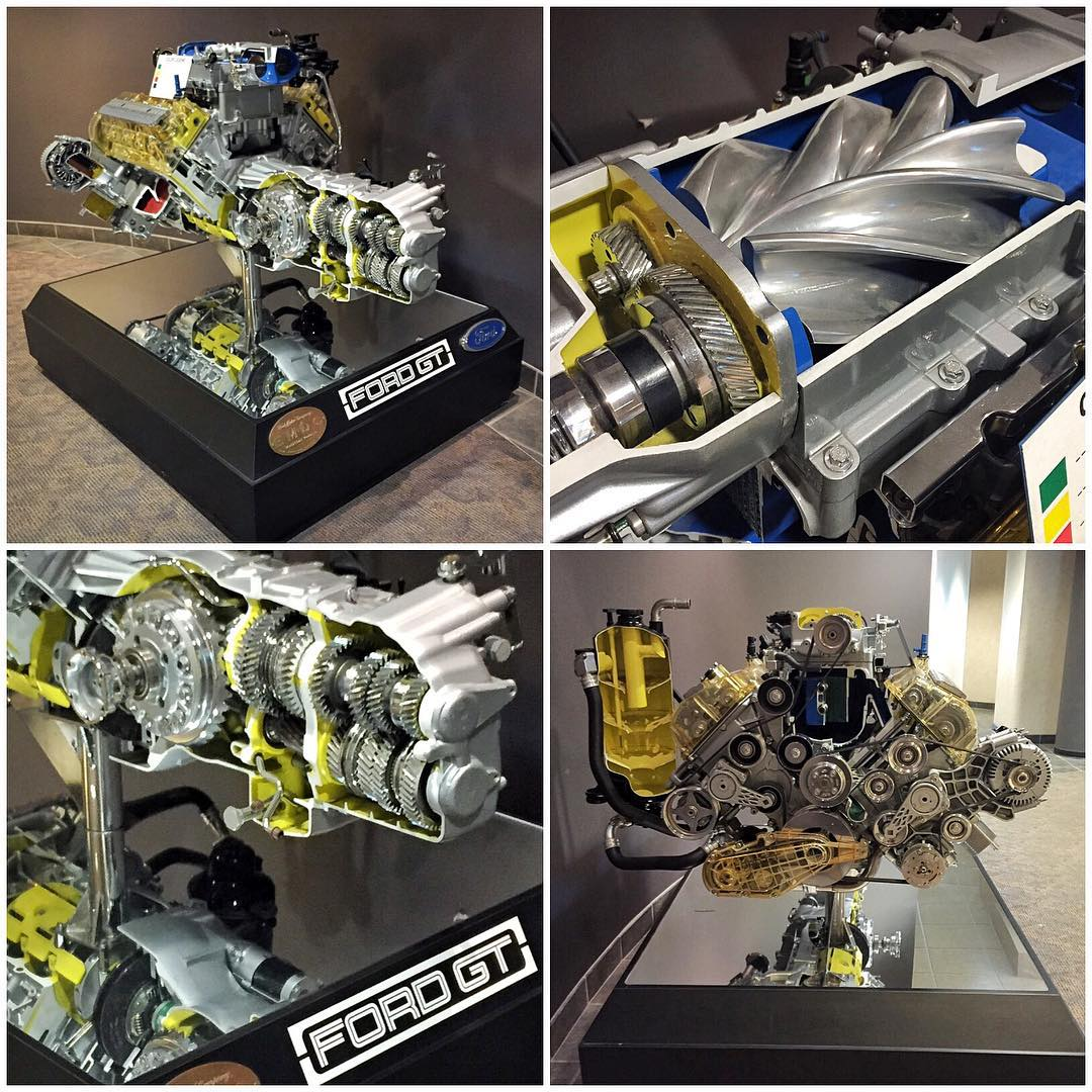 "Went to use the bathroom at @FordPerformance and stumbled across this nice bit of ""art"" on display in the hallway. It's a cutaway motor model that happens to be the supercharged V8 power plant from the last generation Ford GT. My kind of art!..."