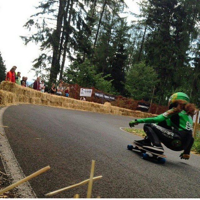 You better check @cristinaverdu taking lines at #Kozakov2015 #keepitholesom pic @lorynlongboards