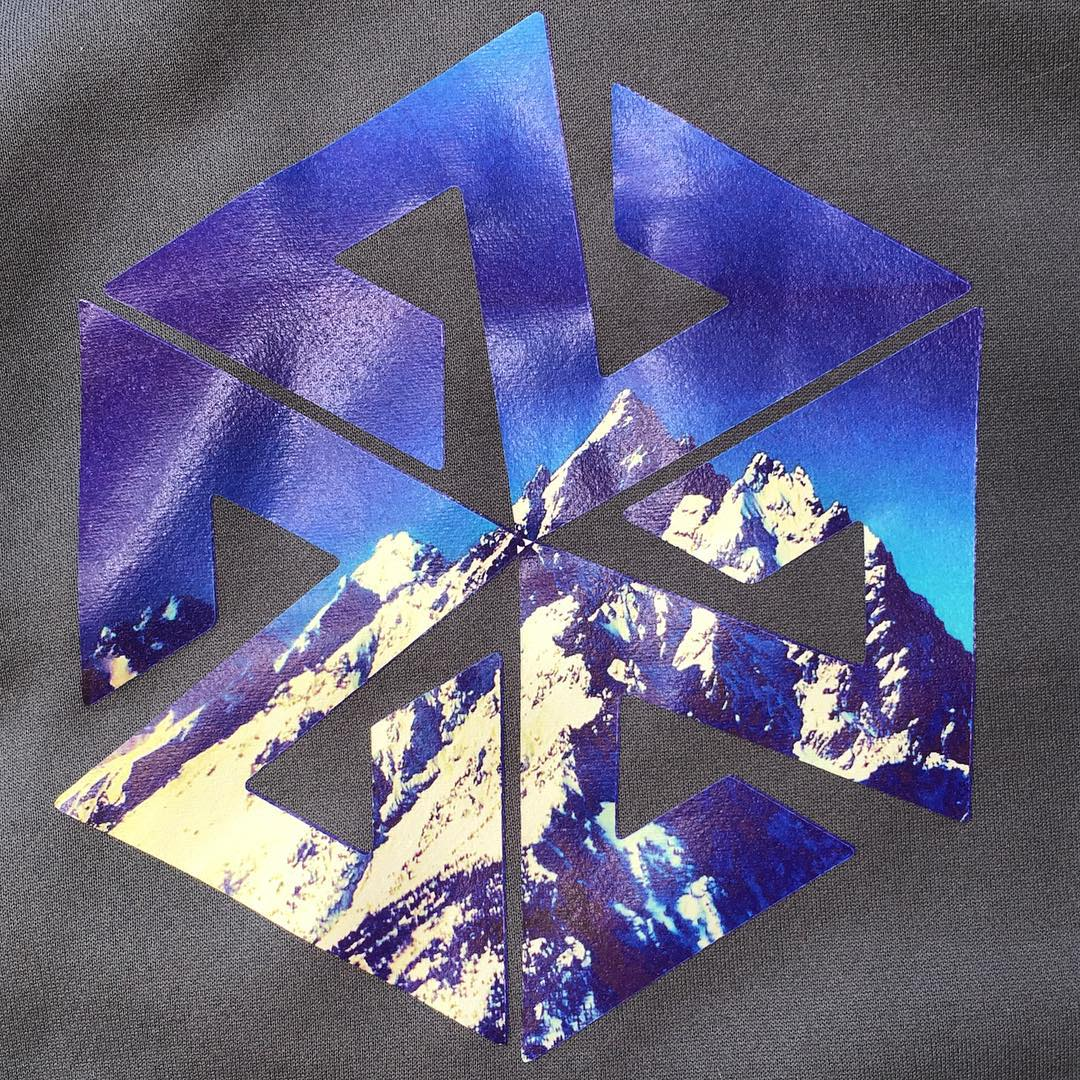 Detail of the print on one of our new super limited edition Majestic Tech Hoodies. #AVALON7 #liveactivated #art #tetons www.avalon7.co