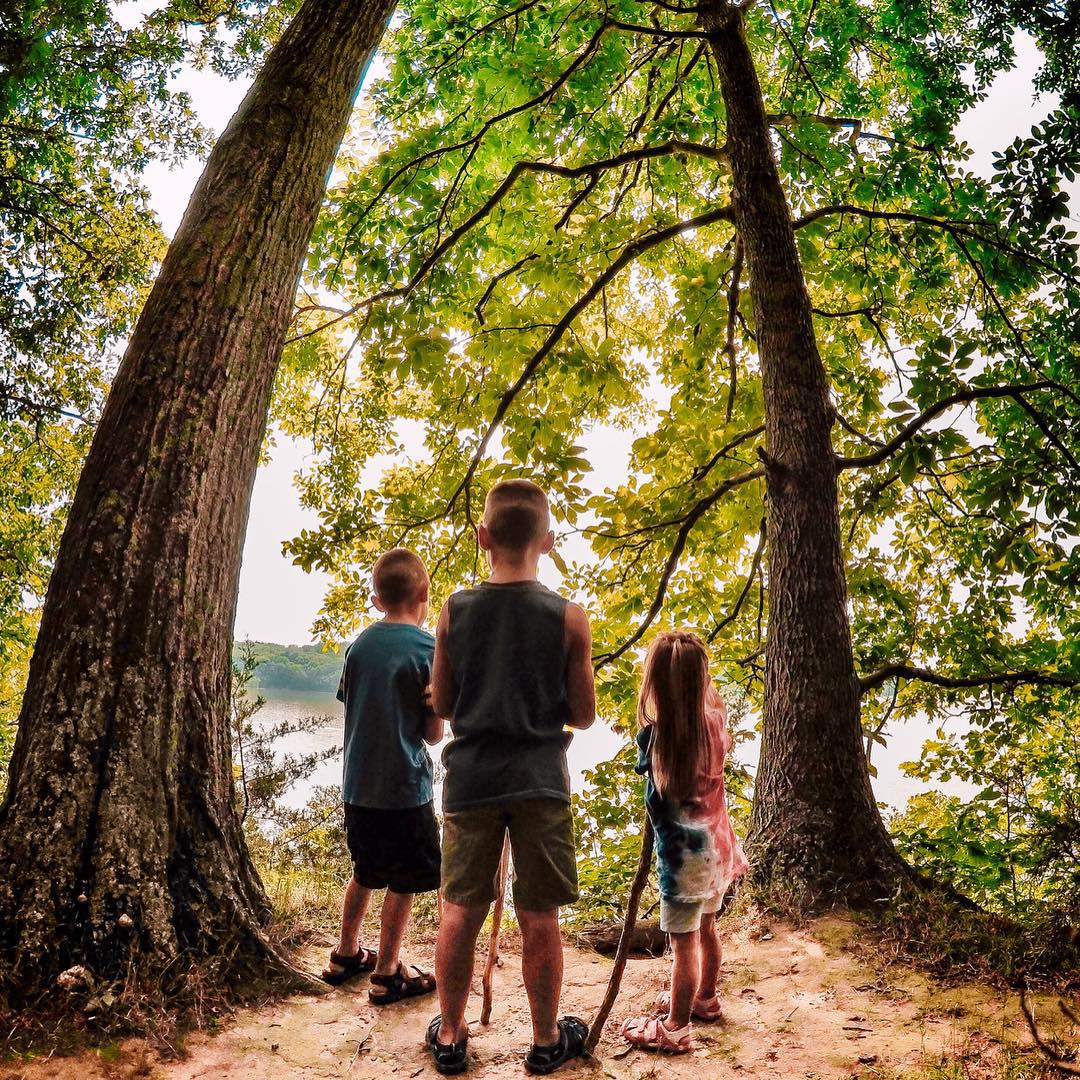 @no9images took advantage of a quiet moment and caught his children during a hike at Hueston Woods State Park in Ohio. Submit your best photos by clicking the link in our profile. #GoPro #Kids #Hiking