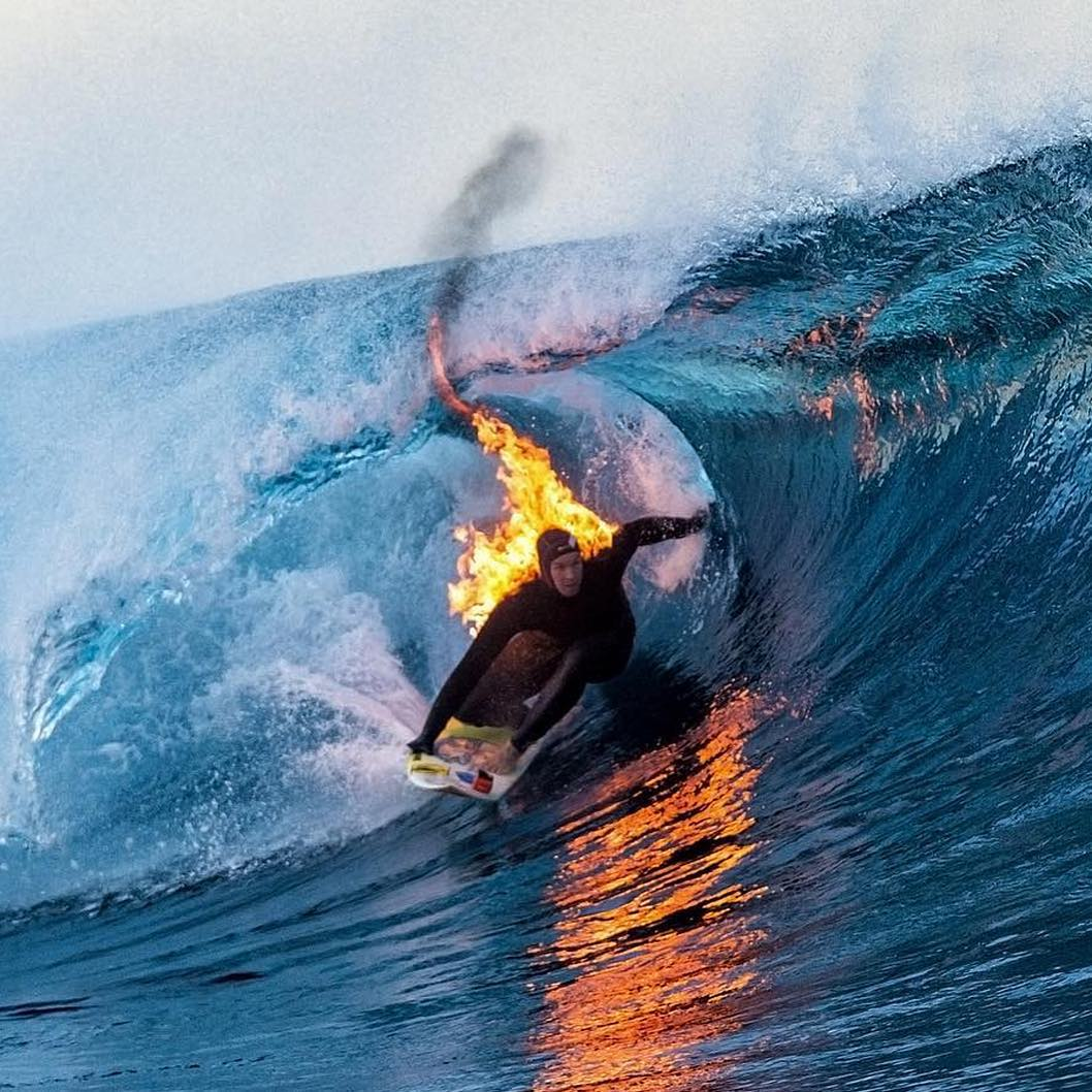 """I got a DM on Instagram that said: 'It'd be cool if you lit yourself on fire.' I thought: 'Why not?'""-@whoisjob  Click the link on our profile page to check out the full clip! ("